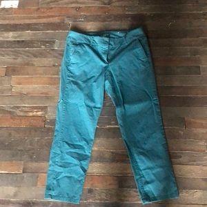 Loft skinny chino crop pants